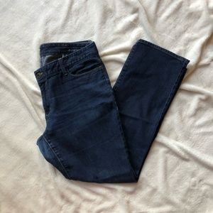 Eddie Bauer Curvy Slim Straight Dark Wash Jeans